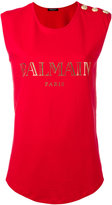 Balmain logo T-shirt - women - Cotton - 40