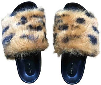 Celine Orange Leather Sandals