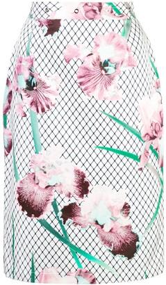 Fleur Du Mal Grommet Pencil Skirt