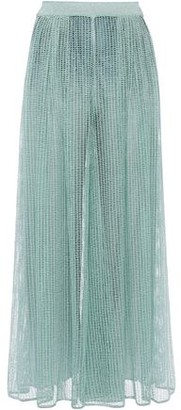 Missoni Metallic Open-knit Wide-leg Pants