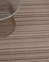 Chilewich Shag Skinny Stripe Mat in Mushroom