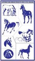 N. Armour Etch 20-0459 Stencil Rub Etch Stencil, Horses, 5-Inch by 8-Inch