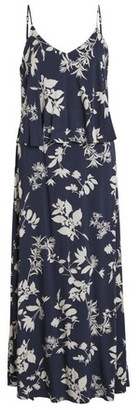Dorothy Perkins Womens **Vila Navy Floral Print Maxi Dress