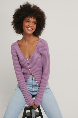 NA-KD Pearl Detailed Knitted Cardigan