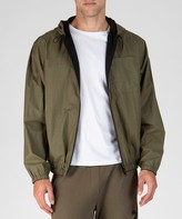 Atm Paper Cotton Reversible Hooded Jacket - Army/ Black Combo