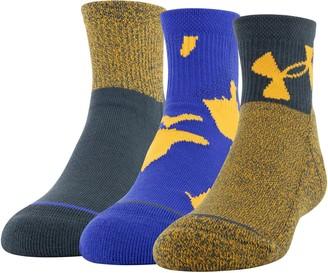 Under Armour Boys 13-4 Phenom 3-pack Quarter Socks