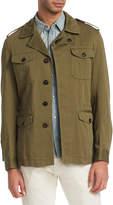 Roberto Cavalli Men's Field Tiger Cotton Jacket
