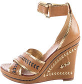 Tory Burch Woven Leather Wedges