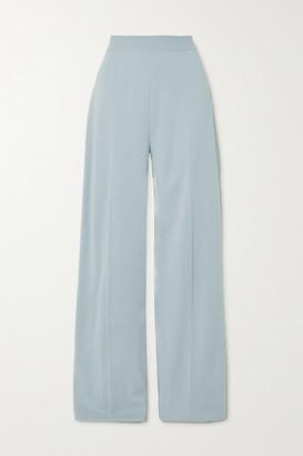 Loro Piana Cashmere And Silk-blend Wide-leg Pants - Light blue
