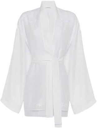 La Perla Ballet Blanc Short Robe
