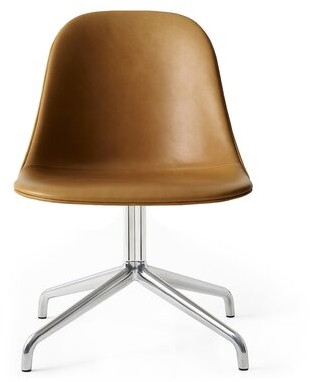 Menu Harbour Chair Genuine Leather Conference Chair Upholstery Color: Cognac/Silver