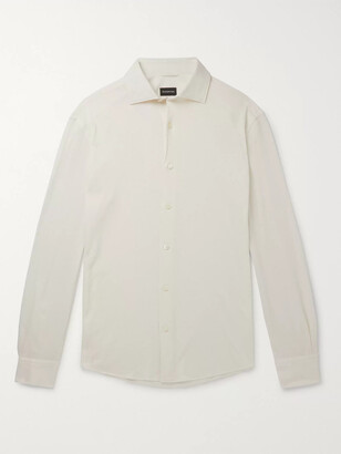 Ermenegildo Zegna Cotton And Cashmere-Blend Shirt