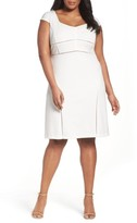Adrianna Papell Plus Size Women's Stretch Crepe Sheath Dress