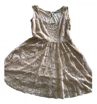Zara Beige Lace Dresses