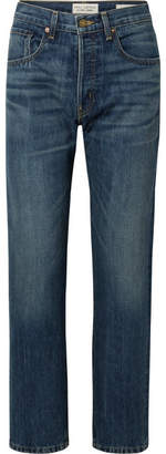 Nili Lotan Archer High-rise Straight-leg Jeans - Mid denim