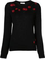 Altuzarra cherry embroidered sweater - women - Merino/Sequin - XS