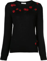 Altuzarra cherry embroidered sweater