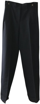 Pablo Navy Wool Trousers for Women