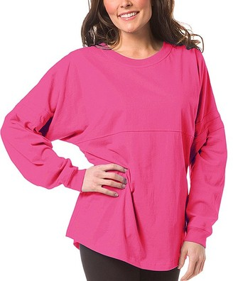 Boxercraft Women's Sleep Tops FUS - Fuchsia Pom-Pom Jersey Oversize Lounge Top - Women & Plus