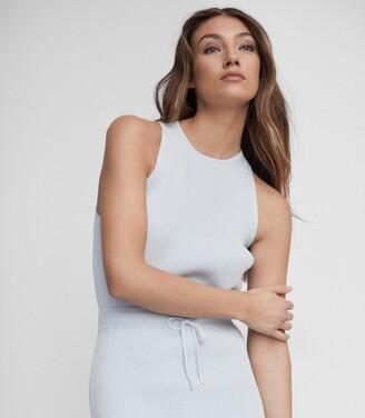 Reiss Josephine - Knitted Midi Dress in Blue