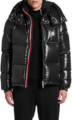 Moncler Men's Montebeliard Double-Zip Hooded Puffer Parka Coat