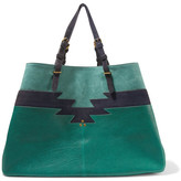 Jerome Dreyfuss Maurice Leather And Suede Tote - Green