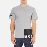 MSGM Men's Bottom Panel Logo TShirt - Grey