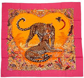 One Kings Lane Vintage Hermès Cashmere Pink Jungle Love Shawl