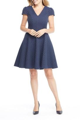 Gal Meets Glam Lorraine Diamond Foulard Dress (Regular & Plus Size)