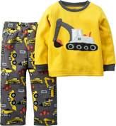 Carter's Baby Boys Fleece Construction Pajama Set