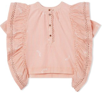 BURBERRY KIDS Ruffle Detail Blouse