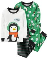 Carter's 4-Piece Penguin Pajama Set in Green