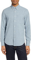 Club Monaco Slim Fit Melange Flannel Button-Down Shirt