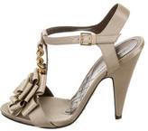 Alberta Ferretti Satin Buckled Sandals