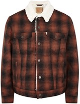 Levi's The Sherpa Trucker Checked Flannel Jacket