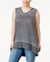 Melissa McCarthy Plus Size High-Low Tank Top