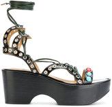 Toga Pulla platform studded sandals - women - Calf Leather/Leather/rubber - 37