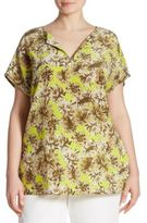 Lafayette 148 New York, Plus Size Joanie Floral-Print Silk Blouse