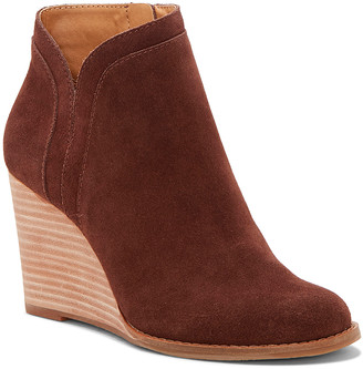 Lucky Brand Women's Casual boots SOIL - Soil Yimina Leather Wedge Bootie - Women