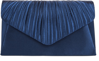 Jessica McClintock Lily Pleated Clutch Bag in Black
