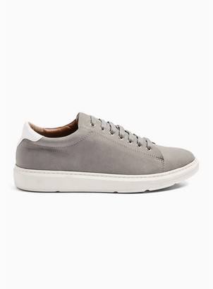 Topman Mens Grey Faux Suede Drill Sneakers