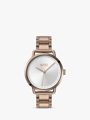 HUGO BOSS 1540056 Women's Mellow Bracelet Strap Watch, Metallic Brown/Silver