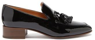 Loewe Pompom Tasselled Leather Loafers - Black