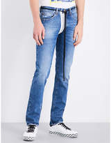 Off-White Striped slim-fit tapered jeans