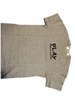 Play Comme Des Garã§Ons Play Comme Des GarAons Grey Cotton T-shirts