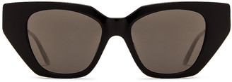 Gucci Acetate Cat Eye Sunglasses in Shiny Black | FWRD