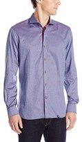Stone Rose Men's Textured Stripe Long Sleeve Button Down Shirt