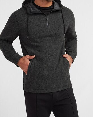 Express Solid Supersoft Flannel Hooded Popover