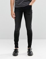 Cheap Monday Him Spray Jeans Post Black Distress