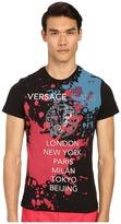 Versace Splatter Print Tour T-Shirt